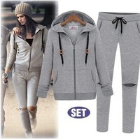 Sports Fashion women's 2013 autumn set personality women's noble casual set free shipping discount