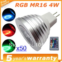 x50 4W 12V MR16 LED RGB LED Bulb Bulbs Light 16Colors RGB Lamp Lampen Spotlight IR Remote For Home Party Lighting Lamps Lamparas