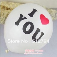 Free shipping wholesale light balloons  party supply wedding supplies I Love You white color 500pcs