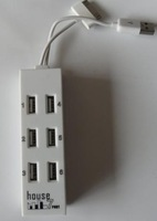 wholesale House shape 8ports USB 2.0 USB HUB  free shipping