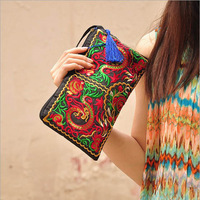 2014 new chinese style handbags small embroidered vintage bag evening day clutches mobile phone contton bag