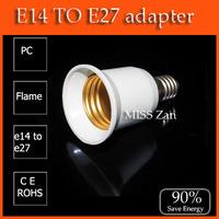 Free Shipping 30Pcs/lot E14 to E27 Extend Base LED Light Bulb Lamp Adapter Converter