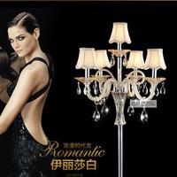 Free shipping glass floor lamp bedroom bedside lamp modern K9 crystal floor lamp 9814-5