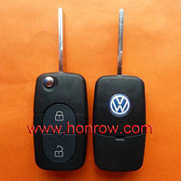 VW 2 button remote key blank without panic (1616 battery Small battery)