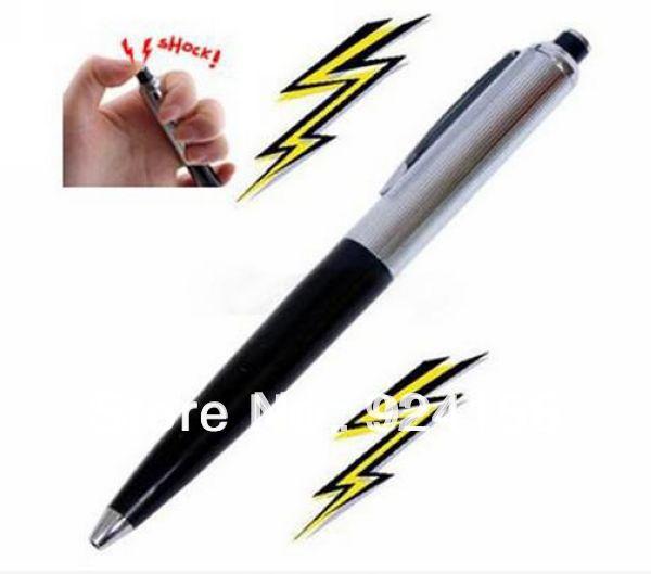 Free shipping Electric Shock Pen Joke Gag Prank Trick Funny Toy Gift wholesale(China (Mainland))