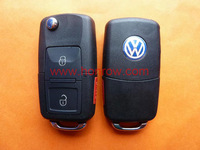 VW 2+1 button remote key blank with panic button