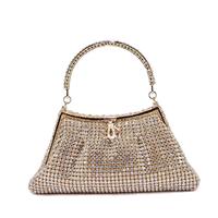 Glorious diamond platinum women's handbag bag noble evening bag