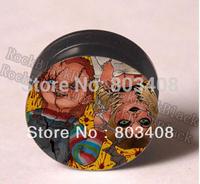 Zombie boy and girl  screw  Ear Plug Stretcher body jewelry mixing 9 sizes  Y1111G