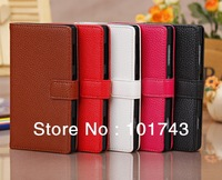 Litchi Magnetic Clasp Card Wallet PU Leather Flip Cover Phone Case For Nokia Lumia 1020, Cell Phone Accessories Free Shipping