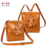 2014 new fashion multi-purpose bag genuine leather bag leather women handbag women messenger bag backpack women messenger bags