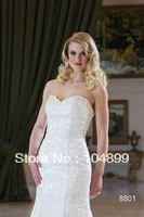 Hot sale Fashoin  Applique Mermaid   Weeding dress