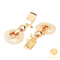 [Arinna Jewelry]Korean fashion Drop Earrings 2013 for women Gold Plated Net  crystal earrings gold color free shipping E2371