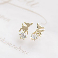 Christmas gift accessories fashion onta stud earring 925 pure silver zhaohao