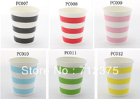 8oz Paper Cups Striped  Paper Cups new items Event & Party Supplies wedding Birthday party free shipping