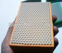manual diamond polishing block resinoid bond diamond hand pad for glass , stones grain 400