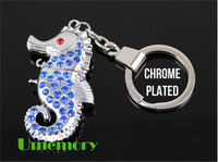 Retail real full capacity 2gb 4gb 8gb 16gb 32gb diamond jewel seahorse usb flash drive pen drive memory stick Drop Free shipping