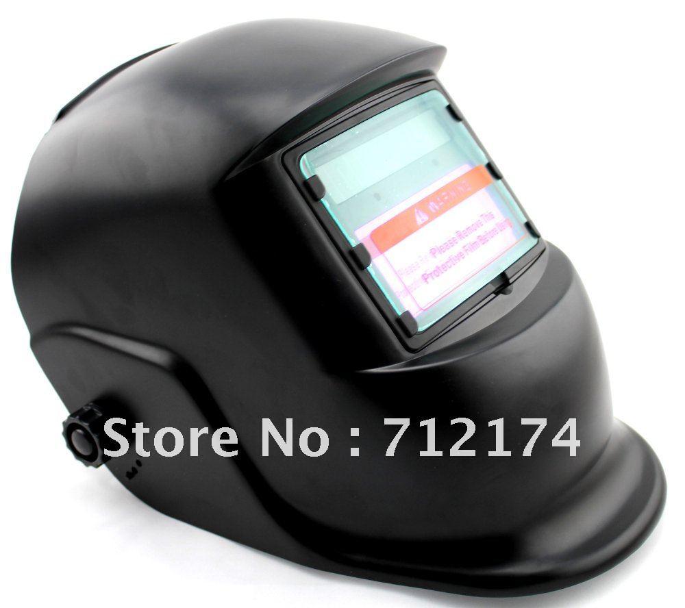 Solar Auto-Darkening Welding helmet welder tool goggles Certified ANSI CE EN379 Welding mask Black View window size:98 x 45mm(China (Mainland))