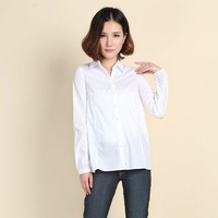Free shipping women slim white blouse 2014 new v neck office Shirt top high quality Promotion WCL030
