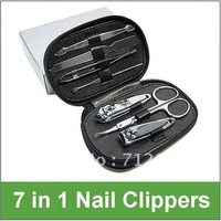 Free shipping!Useful 7-In-1 Nail Clippers Kit Nail Tweezers Scissors File Tool Kit Set