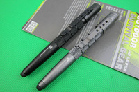 BLACK Han Dao Multifunctional Tactical Pen Defense Survival tools Portable Survival aluminum Pen with super led light