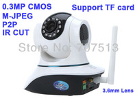 PnP P2P IP Network Camera Wi-Fi Pan Tilt Night vision IR Cut ip camera supoort TF card