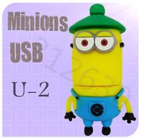 Hot sale U02 Minions 2 Despicable Me Cartoon U Disk 256MB 4GB 8GB 16GB 32GB 64GB USB 2.0 Flash Memory Stick USB Flash Drive