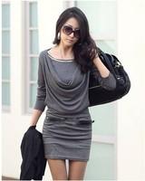 New 2014  Women Slim Package Hip Cotton Dress dg1064