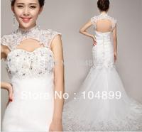 2015 new design fashion style hot sale princess bride dress backless wedding dress High quality mermaid dress