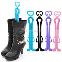 New Plastic Long Boots Plastic Shapers Shoes Up Stretcher Supporter Holder Storage Hanger 4 Color Free Shipping