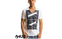 2013 NEW AX MEN shirt cotton V-neck t shirt multicolor short-sleeve T-shirt Free shipping shirts