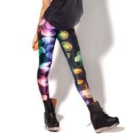 2013 New Arrival Jellyfish Rainbow Leggings Fashion Galaxy digital print Pants free shipping--K203