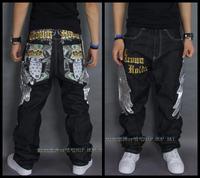 Hot Sale Men's Fashion Jeans Men Straight Harem Personality Design Zipper Pants Boys Hip Hop Jeans Men Trousers