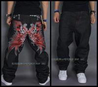 Free Shipping Fire Wings Mens Jeans 100% Original Famous Brand Jeans Denim hip hop Jeans skateboarding dance pants for men