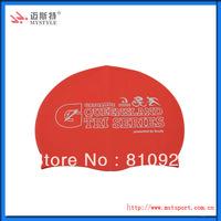 Custom logo promotion silicon swim caps