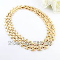 Latest Hot Sale Christmas Present Round Shape Gold Color Alloy Necklaces 2013 Women