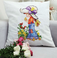 3D ribbon embroidery kits,pillow case,Princess Sophie 2,home decoration craft,innovative items,hand made christmas cushions