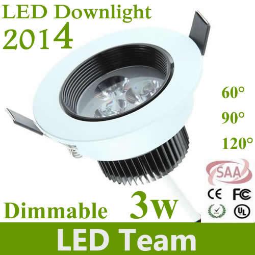 4p/lot High power Led ceiling down light 3W 330lm led lamp 85-265V Led bulb Lamps Spotlight downlight lighting CE RoHS SAA(China (Mainland))