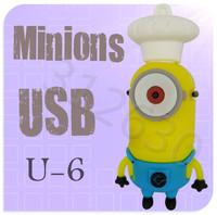 Hot sale U06 Minions 2 Despicable Me Cartoon U Disk 256MB 4GB 8GB 16GB 32GB 64GB USB 2.0 Flash Memory Stick USB Flash Drive