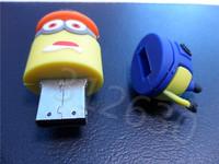 Hot sale U10 Minions 2 Despicable Me Cartoon U Disk 256MB 4GB 8GB 16GB 32GB 64GB USB 2.0 Flash Memory Stick USB Flash Drive