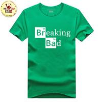 Breaking Bad Inspired Walter Meth Labs T shirt , men's 100% Cotton custom logo shirts,make your own t-shirt Free shipping