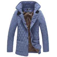 Free shipping 2013 winter  new arrival fashion casual  warm  outwear Men's down jacket  2colors 4sizes