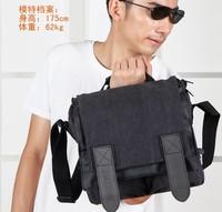 SLR one-shoulder bag Canvas Black One camera one camera shot free shipping