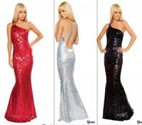 New Fashion 2013 Star Evening Party Club Dress,Dinner Prom Elegant Dress Shine Mermaid Costumes  Red Silver Black