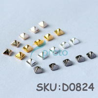 Freeshipping 60 pcs Metal Bullet 4 Colors taper 3D DIY Nail Art Decoration Dropshipping [Retail] SKU:D0824