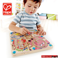 Hape maze magnetic stick traffic tools maze 2 - 3 baby educational toys