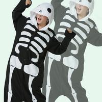 Factory price Skeleton Skull Scary Costumes,Carnival/Halloween Fancy Costumes,Women's men's novelty pajamas