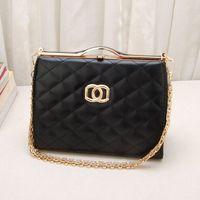Fashion small 2013 shaping women's handbag plaid bag chain shoulder bag messenger bag women's bags, free shipping