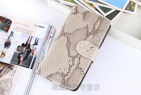 DHL Free Shipping Snake Skin Pattern For Samsung Galaxy S4 I9500 Wallet Leather Standing Case Flip Cover 30Pcs/Lot