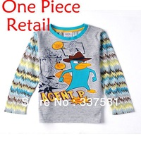 Nova children wear cllthing new 2013 AGENT P spring autumn casual baby  boys casual T-shirts A3135