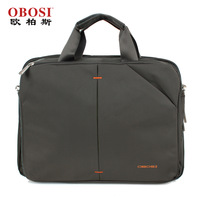 Obosi male commercial handbag double 14 briefcase laptop bag one shoulder handbag